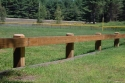 "6""x8"" PT Rail on 6""x8""x6' PT Post Wilmot Little League Field, Wilmot,NH"